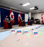 Kanadas speciella vaccingrupp förberedde sig i veckan för hur vaccinet skulle fördelas och spridas över landet. Sean Kilpatrick / TT NYHETSBYRÅN