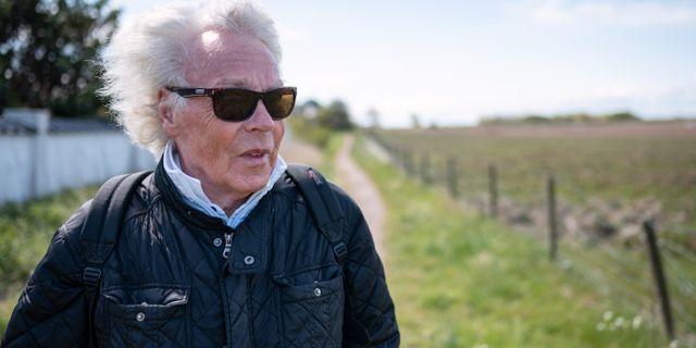 Jan Wieslander i Skanör är en av dem som kommer att få muren precis utanför tomtgräsen Johan Nilsson/TT / TT NYHETSBYRÅN