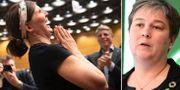 Märta Stenevi jublar efter att ha blivit vald/Emma Nohrén, arkivbild. TT