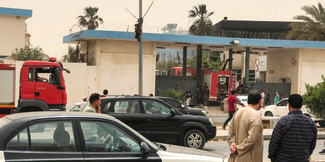 Valkommissionen i Tripoli på onsdagen.  MAHMUD TURKIA / AFP