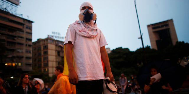 Oppositionella demonstrationer i Caracas, 13 juli. Ariana Cubillos / TT / NTB Scanpix