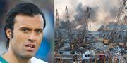 Abbas Hassan i en bild från 2012. Hamnen i Beirut efter explosionen.  TT