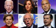 Sex av Demokraterna som kandiderar till att bli presidentkandidat.  AP