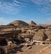 Staden ligger söder om Kairo. Nariman El-Mofty / TT NYHETSBYRÅN
