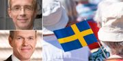 SEB:s chefsekonom Robert Bergqvist, Nordeas chefsanalytiker Torbjörn Isaksson. Arkivbilder. TT