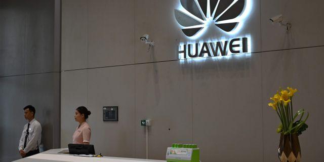 Arkivbild: Huaweis högkvarter i Shenzhen, Kina HECTOR RETAMAL / AFP