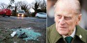 Bilder från olycksplatsen / Prins Philip.  TT