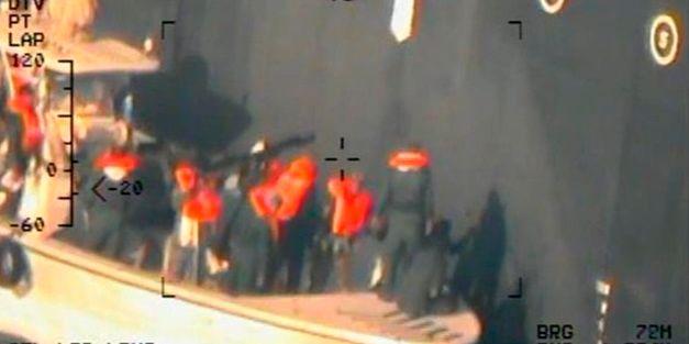 Bilderna släpptes av Pentagon på måndagen TT NYHETSBYRÅN