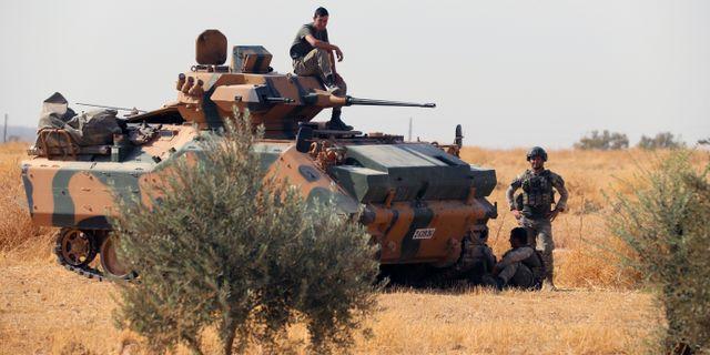 Turkiska trupper i Syrien. TT NYHETSBYRÅN