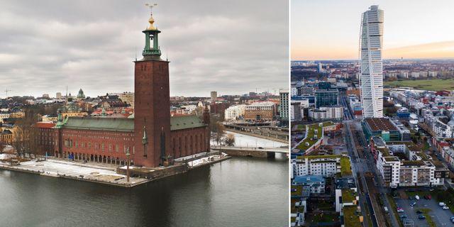 Stockholm och Malmö. Arkivbilder. TT