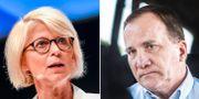 Elisabeth Svantesson och Stefan Löfven.  TT