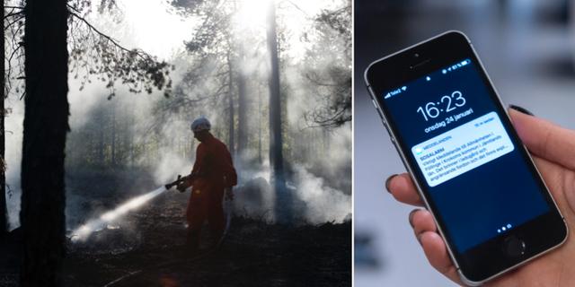 Skogsbrand / VMA i mobilen TT