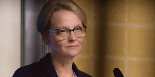Migrationsminister Heléne Fritzon (S). Stina Stjernkvist/TT / TT NYHETSBYRÅN