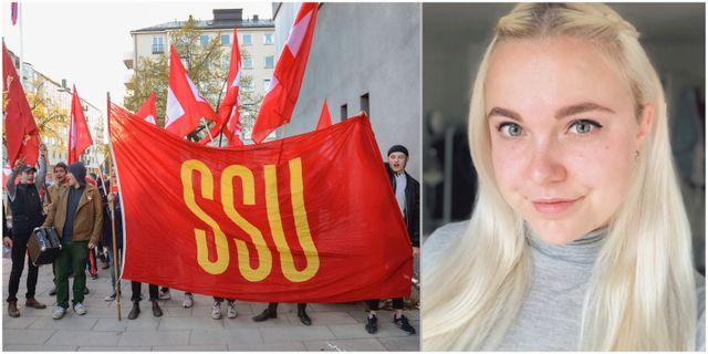 Alva Dahn, SSU:s tidigare distriktsordförande i Stockholms län. TT/privat