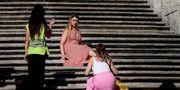 Turister motas bort från spanska trappan. Filippo Monteforte/AFP/TT