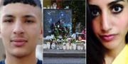 15-årige Jaffar och 31-åriga Karolin Hakim som mördats i Malmö. Privat / TT