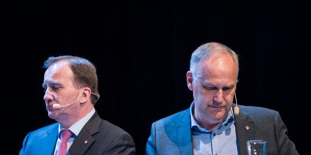 Stefan Löfven (S) och Jonas Sjöstedt (V). Erik Mårtensson/TT / TT NYHETSBYRÅN