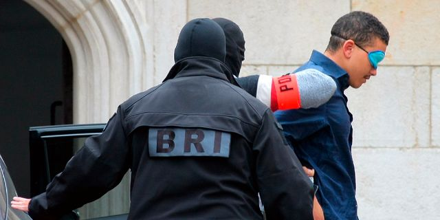 Makaveli Lindén under gripandet i Dijon. Arkivbild. Dominique Trossat / TT NYHETSBYRÅN