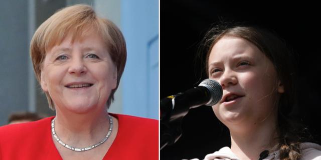 Angela Merkel och Greta Thunberg TT