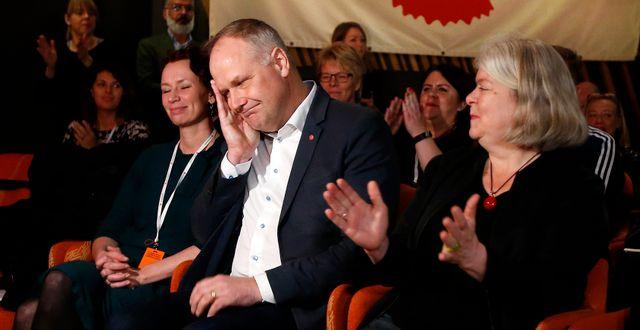 Partiledare Jonas Sjöstedt på Vänsterpartiets kongress i Karlstad. Linn Malmén/TT / TT NYHETSBYRÅN