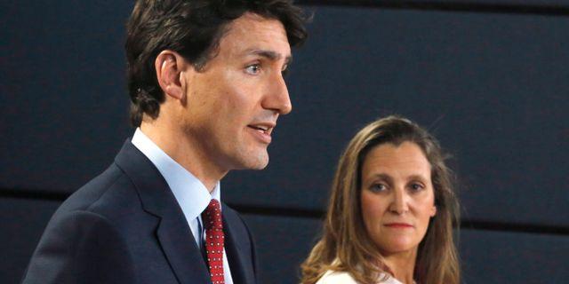 Arkivbild: Kanadas premiärminister Justin Trudeau och utrikesminister Chrystia Freeland Patrick Doyle / TT NYHETSBYRÅN
