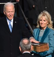 USA:s president Joe Biden och hans fru Jill Biden.  Saul Loeb / TT NYHETSBYRÅN