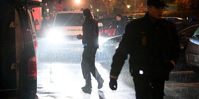 Polis på mordplatsen Johan Nilsson/TT / TT NYHETSBYRÅN