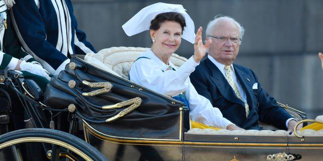 Kung Carl XVI Gustaf och drottning Silvia. Karin Törnblom/TT / TT NYHETSBYRÅN