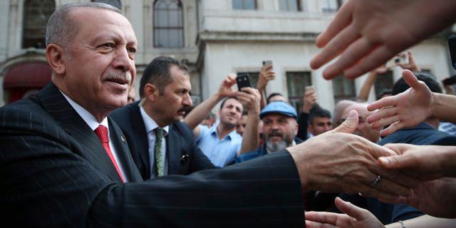 Erdogan i Istanbul idag. TT NYHETSBYRÅN