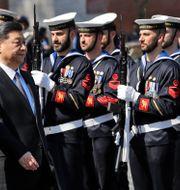 Xi Jinping med Italiens försvarsminister Elisabetta Trenta. Alessandra Tarantino / TT NYHETSBYRÅN/ NTB Scanpix