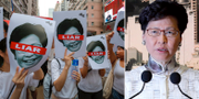 Demonstranter/Carrie Lam. TT