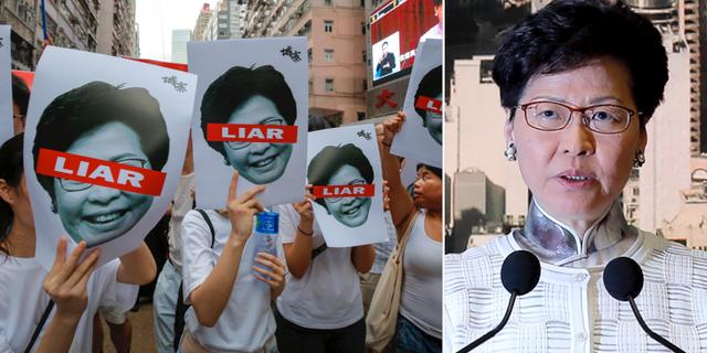 Demonstranter/Carrie Lam. TT