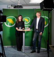 Märta Stenevi och Per Bolund. Jessica Gow/TT / TT NYHETSBYRÅN