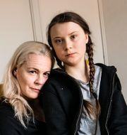 Malena Ernman och Greta Thunberg. Malin Hoelstad/SvD/TT / TT NYHETSBYRÅN