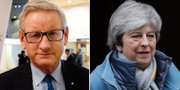Carl Bildt och Theresa May. TT