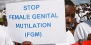 Demonstration mot kvinnlig omskärelse, bild från Kenya. SAYYID AZIM / TT / NTB Scanpix