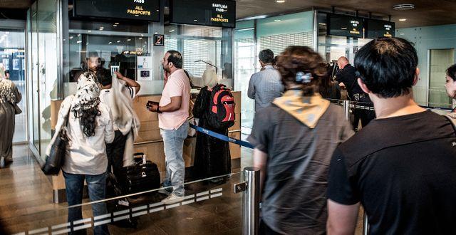 Passkontrollen på Arlanda flygplats Tomas Oneborg/SvD/TT / TT NYHETSBYRÅN