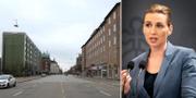Öde i Köpenhamn/Mette Frederiksen. TT