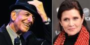 Leonard Cohen och Carrie Fisher. TT