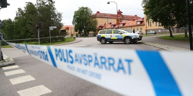 Polisavspärrning i Linköping på onsdagen Jeppe Gustafsson / TT NYHETSBYRÅN