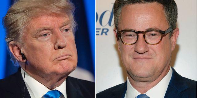 Donald Trump och Joe Scarborough. TT
