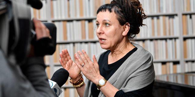 Olga Tokarczuk. Arkivbild. Martin Meissner / TT NYHETSBYRÅN