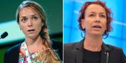 Johanna Jönsson (C) och Christina Höj-Larsen (V). Arkivbilder. TT Nyhetsbyrån.