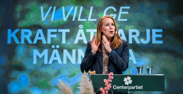 Annie Lööf på Centerstämman.  Anders Wiklund/TT / TT NYHETSBYRÅN