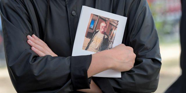 Bild från Eric Torells begravning i Gustaf Vasa kyrka. Janerik Henriksson/TT / TT NYHETSBYRÅN