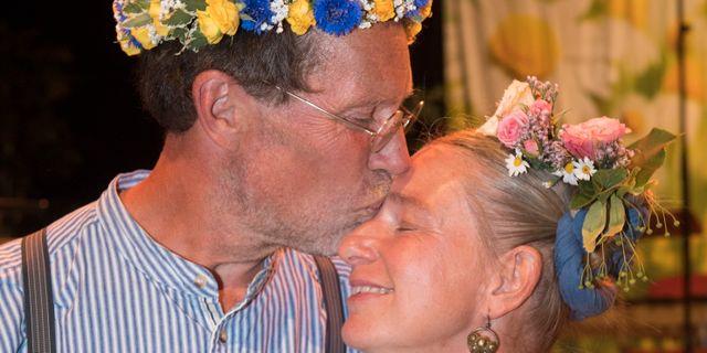Lantbrukarna Gustav och Marie Mandelmann. Fredrik Sandberg/TT / TT NYHETSBYRÅN