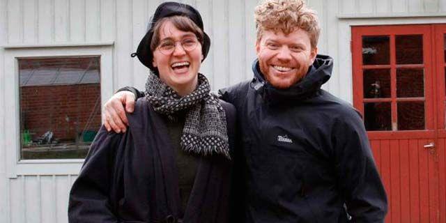 Kajsa Löfstedt och sambon Johannes Lindgren. Foto: E.ON