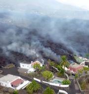 5000 personer har evakuerats undan lavan. TT NYHETSBYRÅN