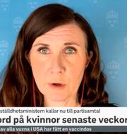 Märta Stenevi (MP), jämställdhetsminister. SVT