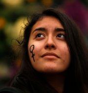 Demonstration i Madrid under Internationella kvinnodagen i Madrid. Francisco Seco / TT NYHETSBYRÅN/ NTB Scanpix